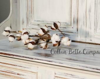 Cotton Spray, cotton stems, cotton, cotton bolls, faux cotton, cotton branches