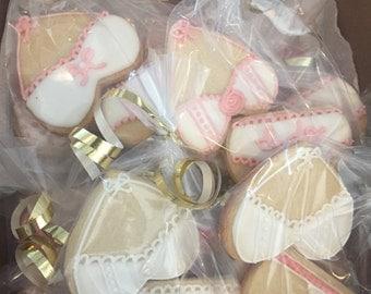 Custom Bachelorette Lingerie Cookies (MINIMUM QUANTITY 12)