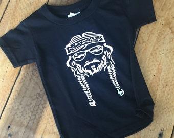 Hippie, Willie Nelson, Toddler Shirt, Shirts, Baby, Gir, Baby Boyl, Toddler Girl, Toddler Boy, Hippie Girls Shirt