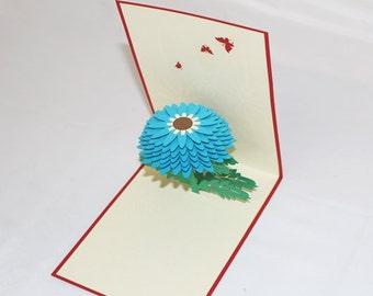 A Daisy, Pop Up Card, Birthday Card, Greeting Card, Birthday Pop Up Card, Christmas Card, Get Well Card, Anniversary Card, 222