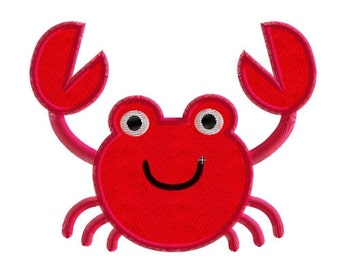 Embroidery design crab