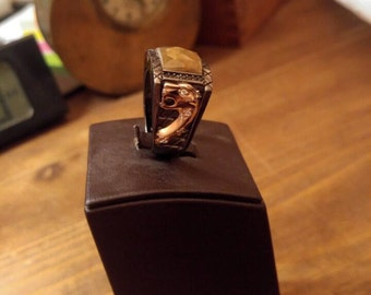 925 Silver men's Ring with natural stone