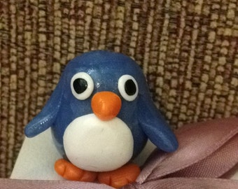 Items Similar To Raku Pottery Baby Emperor Penguin Clay