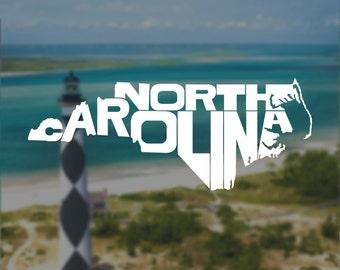 North Carolina Decal, North Carolina Sticker, Decal, Laptop Decal, Laptop Sticker, Macbook Decal