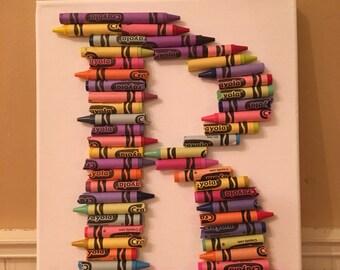Crayon Canvas Letter