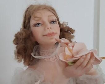 """Característica de arte muñeca muñeca de la muñeca la muñeca Interior autoral """"Vals de las flores"""""""