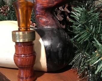 Duck Call Custom hand turned Brazilian Cherry wood