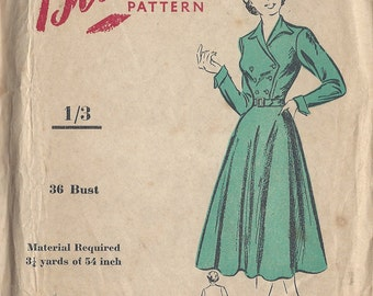 "1950s Vintage Sewing Pattern B36"" DRESS (151) Blackmore 8398"
