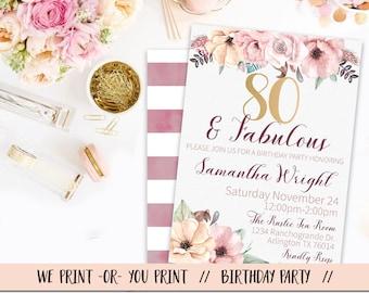 th birthday invitations  etsy, Birthday invitations