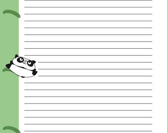 A5 Panda Notes Insert