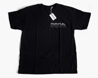 Minimal Sessions Chest Print T-Shirt (BLACK)