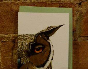 Humphrey Owl note card
