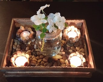 Centerpiece Candle Holder with Flower Jar
