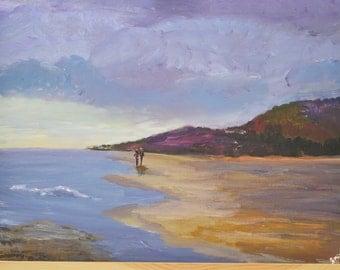 Scottish Lowlands landscape acrylic  painting