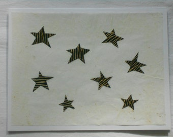 Stars Card - White Background