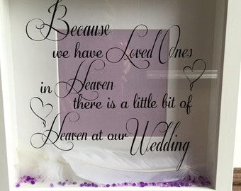 Heaven in our home/ wedding frame