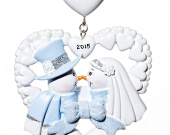 Our 1st Christmas Wedding Couple Personalized Christmas Ornament-Free Gift Bag Included