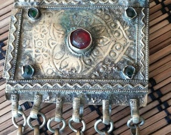 Small Square Kuchi Tribal ATS Gypsy Pendant