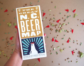 Beer Map Etsy - Us beer map red robin