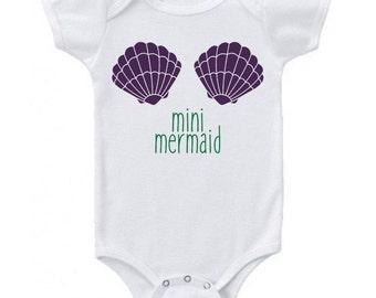 Mini Mermaid Baby Bodysuit