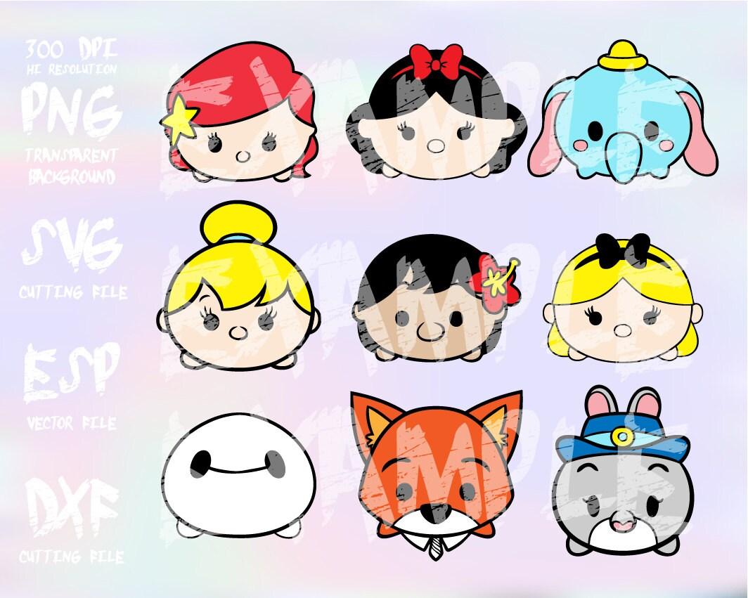 Disney Tsum Tsum Clipart 9: Disney Tsum Tsum 1 , Clipart , SVG , PNG 300dpi ,ESP