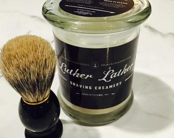 Handcrafted Shave Cream & Badger Brush Set