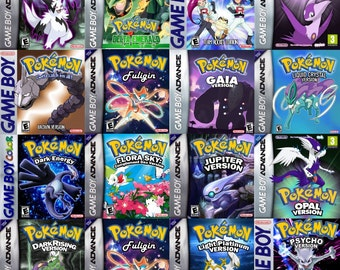 Pokemon Gameboy Custom Replicated Game Covers Replacement Artwork Complete With Box / Case Retro Repro Reproduction Nintendo Video Game