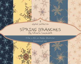 Patterns for Adobe Illustrator Spring Branches