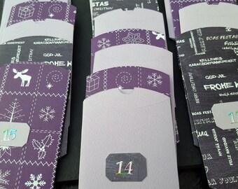 Purple advent calendar