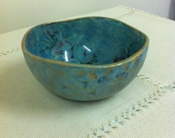 Glass decoupage bowl