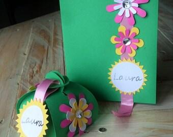 invitation and favor box