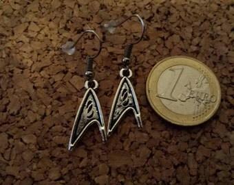 Badge Star Trek science earrings