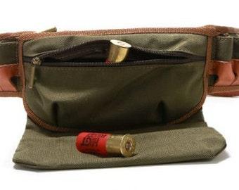 padded cartridge belt with pocket