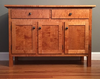 Sideboard (Buffet) in Solid Tiger Maple