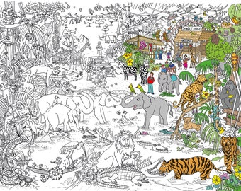Jungle Safari Colouring Poster