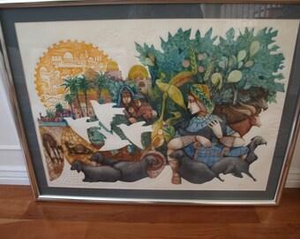 David the Shepherd by Amram Ebgi, Artist Proof (Judaica art)