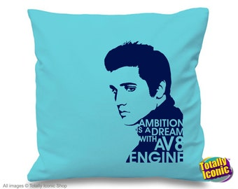 Elvis Presley inspired -  Pillow Cushion Cover - Iconic Singer with quote  - King of Rock, Great Xmas Gift Idea