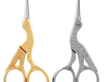 Sewing Scissors, Vintage Scissors, Bird Scissors, Fabric Sewing, Sewing Pattern, Sewing Supplies, Bird Pattern, Antique Pattern - Free Ship!