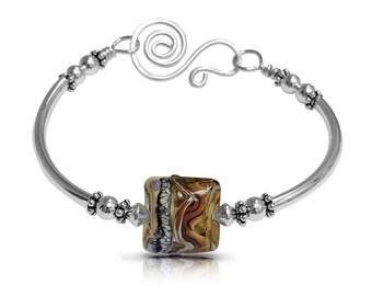 Beaded Bracelet, Girlfriend Gift Bracelet, Boho Bracelet, Boho Bangle, Romantic Gift Bracelet, Gift, Gift for Women, Free Shipping, Mom Gift