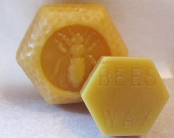 2 Beeswax Blocks-Natural wax-Beeswax Sample Wax- Candle wax-Easy to use Bees wax -Colorado beeswax