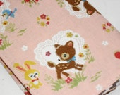 Small Composition Book/ Mini Notepad -- Kawaii Woodland Friends -- Pink (Other Colors Available)