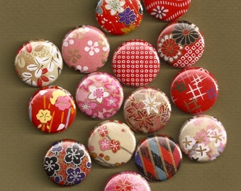 One Inch Magnets - Assortment of 15 - Compatible with Magnetic Jewelry