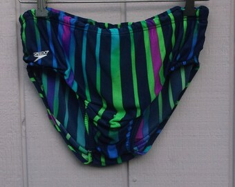 Vintage Speedo Men's Brief Swim Trunks / Swimming Trunks // size Med - 36