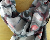 Silk Marbleized and Shibori Scarf