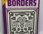HALF OFF Dover 32 page border clip art book, clip art, borders, copyright free designs, art borders, Ted Menton designs, art borders book