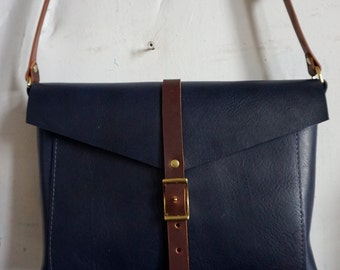 Indigo and cherry Brooklyn bag