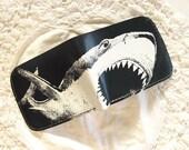 Shark Wallet For Men Dark Teal Leather