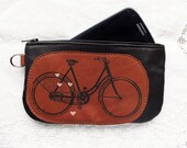 Bicycle Phone pouch Pencil Case Recycled Leather