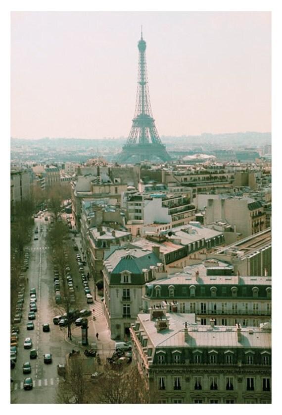 Paris Photography - Eiffel Tower Photograph - Paris in the Springtime-  Original Fine Art Photograph - Pink - Landscape Photo - Paris Art