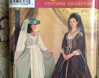 Simplicity Pattern 0637, Size D (Sizes 4, 6 and 8)-Women's Renaissance Costume Collection-OOP, New and Uncut, Andrea Schewe